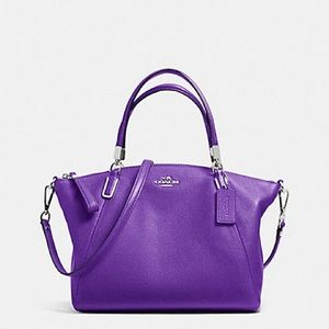 COACH KELSEY SMALL SATCHEL PEBBLE LEATHER PURPLE